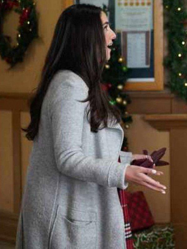 Dashing Home for Christmas Paniz Zade White Wool Coat