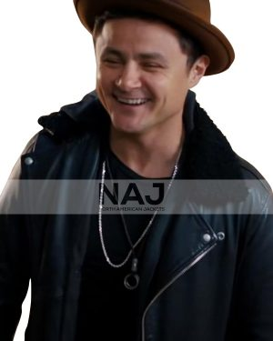 Arturo Castro Dating and New York 2021 Black Leather Jacket