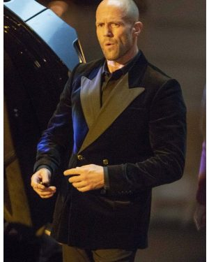 Fast and Furious Hobbs & Shaw Jason Statham Black Blazer Coat