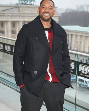 Detective Mike Lowrey Bad Boys For Life Will Smith Black Wool Coat