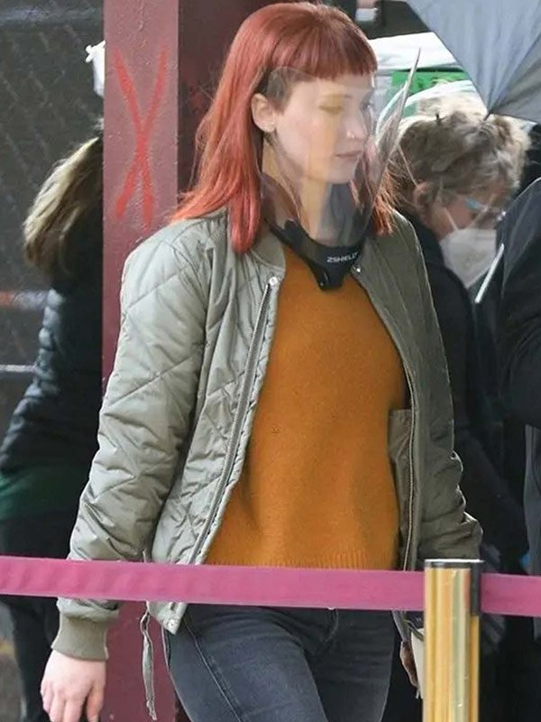 Jennifer Lawrence Don't Look Up Quilted Bomber Jacket