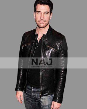 The Host Movie Dylan McDermott Black Cafe Racer Leather Jacket
