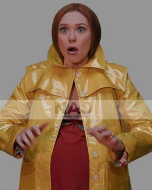 Wanda Maximoff Wandavision Season 01 Elizabeth Olsen Yellow Coat