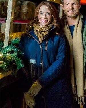 Bridget Regan Christmas Getaway Blue Jacket