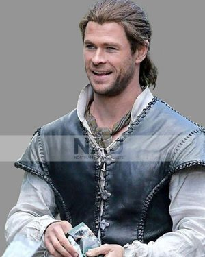 Chris Hemsworth The Huntsman Winters War Black Leather Vest
