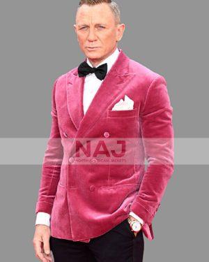 James Bond No Time to Die Premiere Event Daniel Craig Pink Jacket Tuxedo