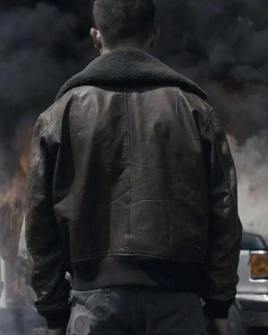 Connor Exodus Jimi Stanton Bomber Leather Jacket