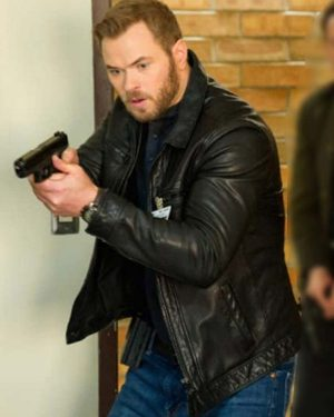 Kellan Lutz TV Series FBI Most Wanted Kenny Crosby Black Leather Jacket