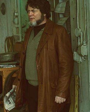 Fargo Karl Weathers Brown Leather Blazer