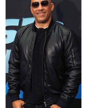 Vin Diesel Fast and Furious Spy Racers Premiere Black Leather Jacket