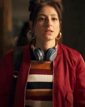 Fate The Winx Saga Elisha Applebaum Red Bomber Jacket