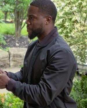 Kevin Hart Fatherhood Black Bomber Jacket