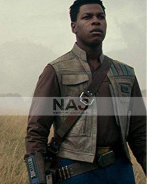 John Boyega Star Wars the Rise of Skywalker Finn Leather Vest