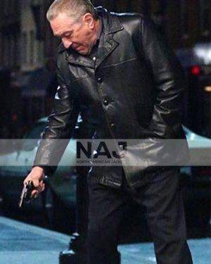 The Irishman 2019 Frank Sheeran Leather Black Jacket