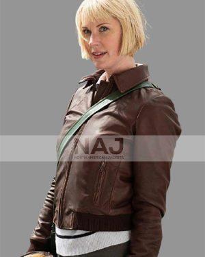 Lauren Lee Smith Frankie Drake Mysteries Season 03 Leather Jacket