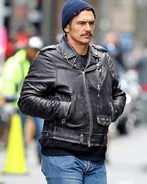 James Franco TV Series The Deuce Frankie Martino Black Leather Jacket