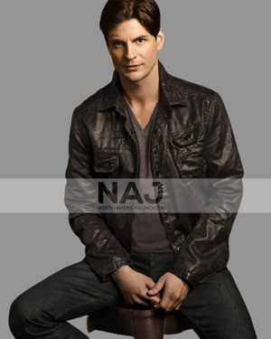 Gale Harold TV Series The Secret Circle S01 Charles Meade Black Leather Jacket