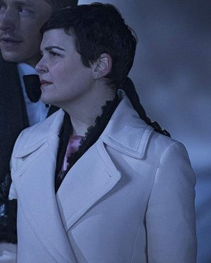 Mary Margaret Blanchard TV Series Once Upon a Time Ginnifer Goodwin Leather Trench Coat