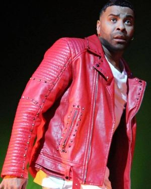 Ginuwine American Singer Red Leather Jacket