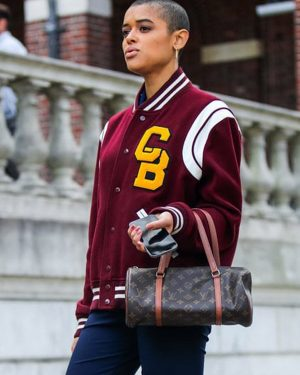 Jordan Alexander Gossip Girl Maroon Letterman Jacket