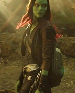 Guardians of the Galaxy Vol. 2 Zoe Saldana Leather Coat
