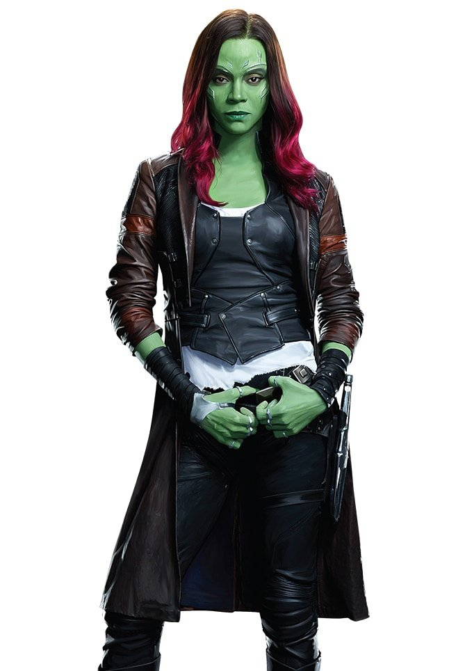 Guardians of the Galaxy Volume 2 Gamora Trench Coat