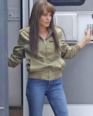 Those Who Wish Me Dead Angelina Jolie Cotton Bomber Jacket