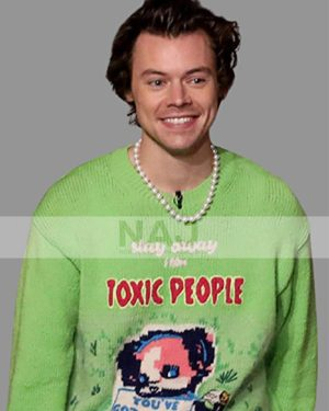 Stay Away From Toxic People Styles Harry Green Sweater