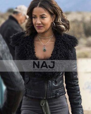 Maria DeLuca Roswell, New Mexico S03 Black Leather Jacket