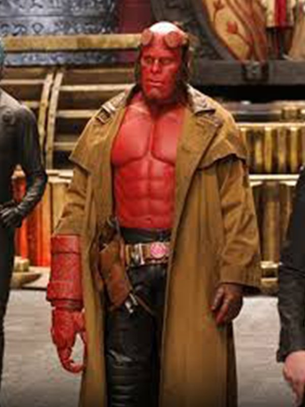 Ron Perlman Demon Hellboy Leather Trench Coat
