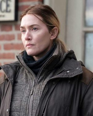 Mare of Easttown Kate Winslet Black Cotton Jacket