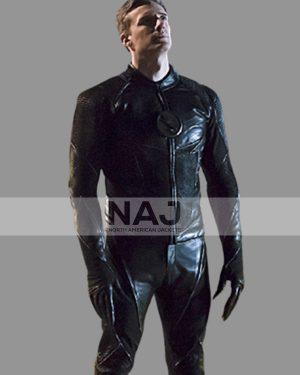 Teddy Sears The Flash Hunter Zolomon Black Leather Jacket