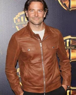 A Star is Born Bradley Cooper Brown Leather Jacket