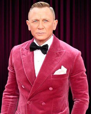 No Time to Die Premiere Event Daniel Craig Pink Jacket Tuxedo