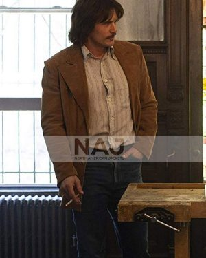 James Franco TV Series The Deuce Frankie Martino Brown Leather Coat