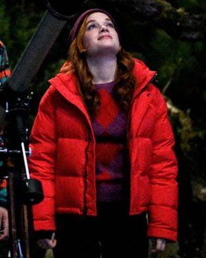 Zoey's Extraordinary Playlist Zoey Red Puffer Jacket