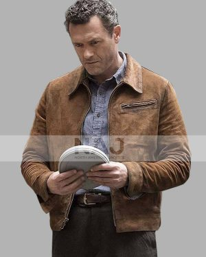 Jason O'mara The Man in the High Castle Wyatt Price Brown Leather Jacket