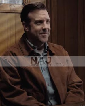 Jimmy Ray South of Heaven 2021 Jason Sudeikis Brown Leather Jacket