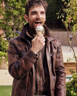 Agents of Shield Season 5 Jeff Ward Brown Leather Jacket