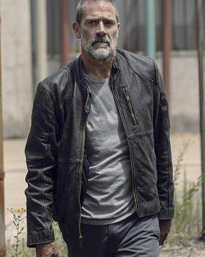 The Walking Dead Season 9 Negan Black Leather Jacket