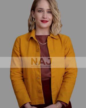 Hope Haddon Sex Education Jemima Kirke Yellow Cotton Jacket