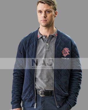 Jesse Spencer Chicago Fire Blue Quilted Jacket