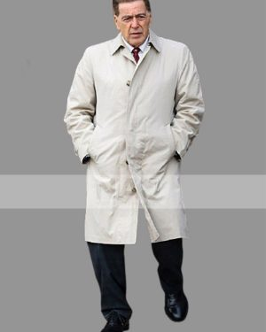 Al Pacino The Irishman 2019 White Cotton Trench Coat