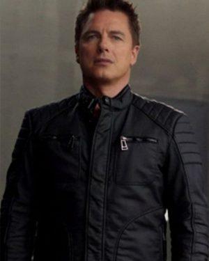 Malcolm Merlyn Arrow Black Leather Jacket