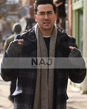 Dan Levy Happiest Season John Plaid Wool Coat