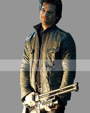 Ray Carrigan Ghost Rider Johnny Whitworth Black Leather Jacket