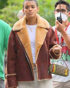 Julien Calloway TV Series Gossip Girl Jordan Alexander Brown Leather Jacket