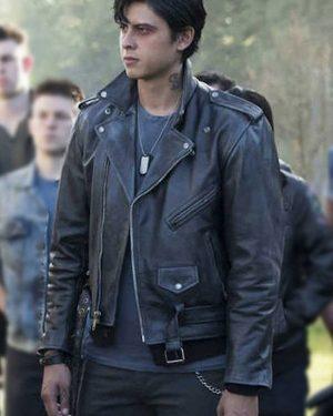 Sweet Pea Riverdale Jordan Connor Black Biker Leather Jacket