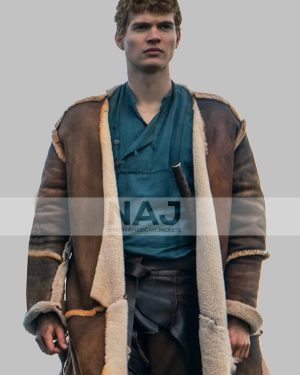 The Wheel of Time Josha Stradowsk Brown Shearling Leather Coat