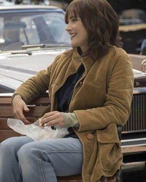 Stranger Things Winona Ryder Brown Corduroy Jacket